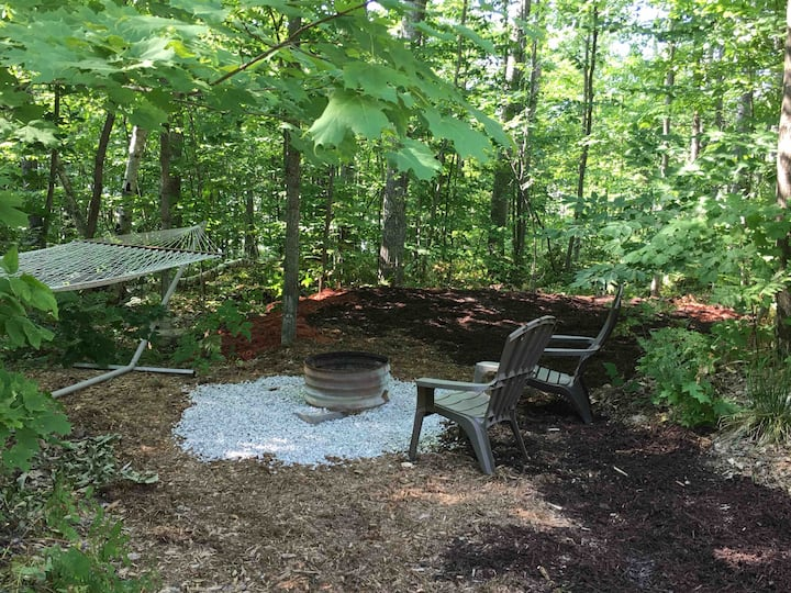CAMPSITE BLUE SPRUCE: The Hermitage of Pearl Lake