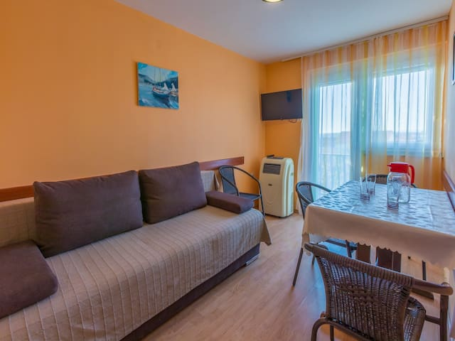 Appartement, avec une chambre à coucher, à Jadranovo (Crikvenica), Le balcon