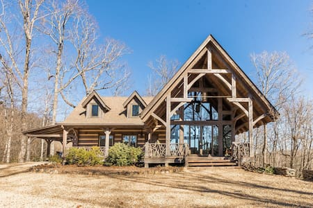 Luxurious Custom Mountain Cabin nestled in the Blue Ridge Mountains is the perfect escape!