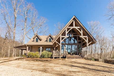 Luxurious Custom Mountain Cabin on 40 acres nestled in the Blue Ridge Mountains is the perfect escape!