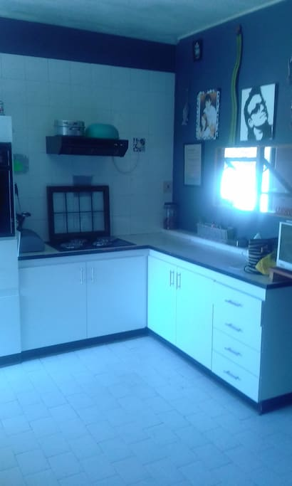 Kitchen is large and modern - use by arrangement