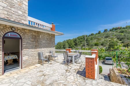 Two Bedroom Apartment, in Stomorska - island Solta, Outdoor pool, Terrace