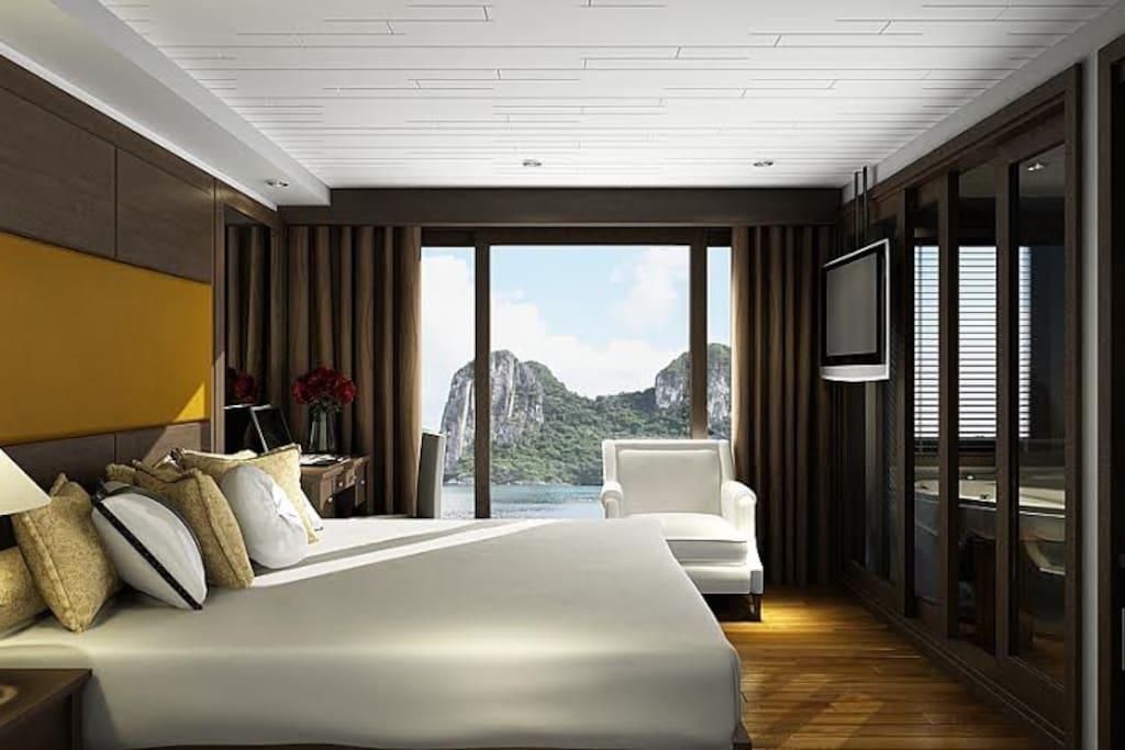 Luxury room on cruise