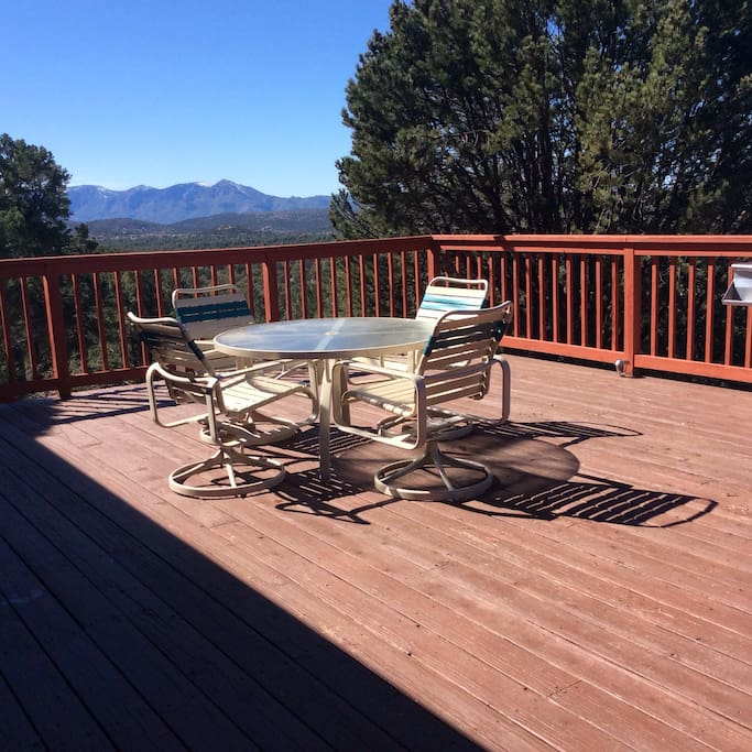 Back deck is 600 square feet of beautiful sunrises and sunsets