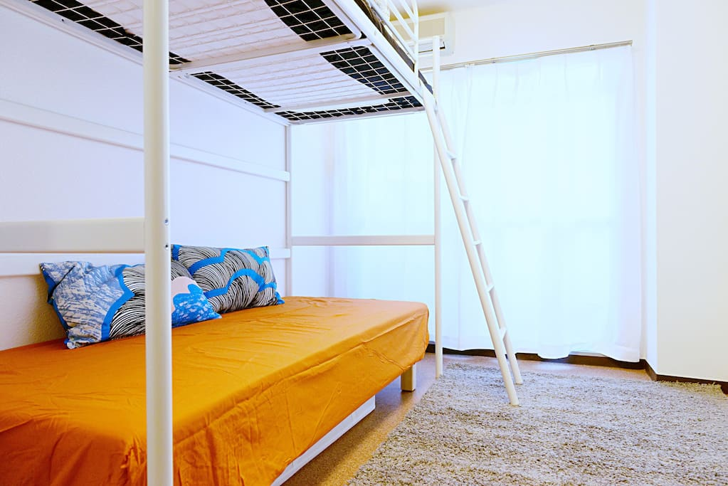 Modern and comfortable bunk bed