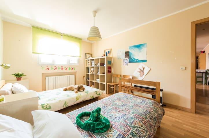 La habitación verde (2 camas individuales)