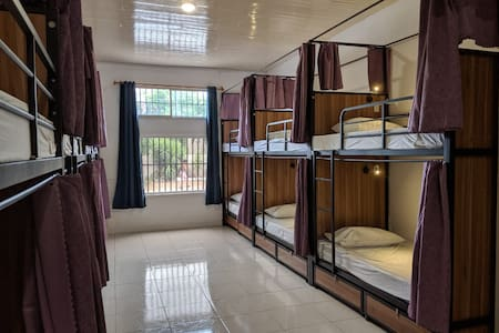 Bed in Modern Hostel - Large A/C Room & Coffee Bar