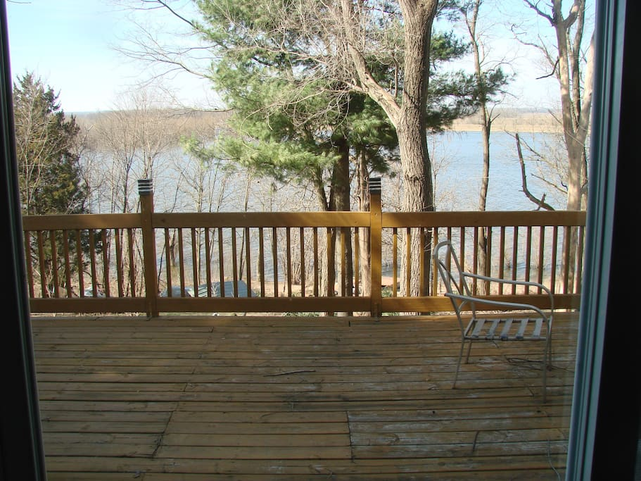 View of river off of deck.