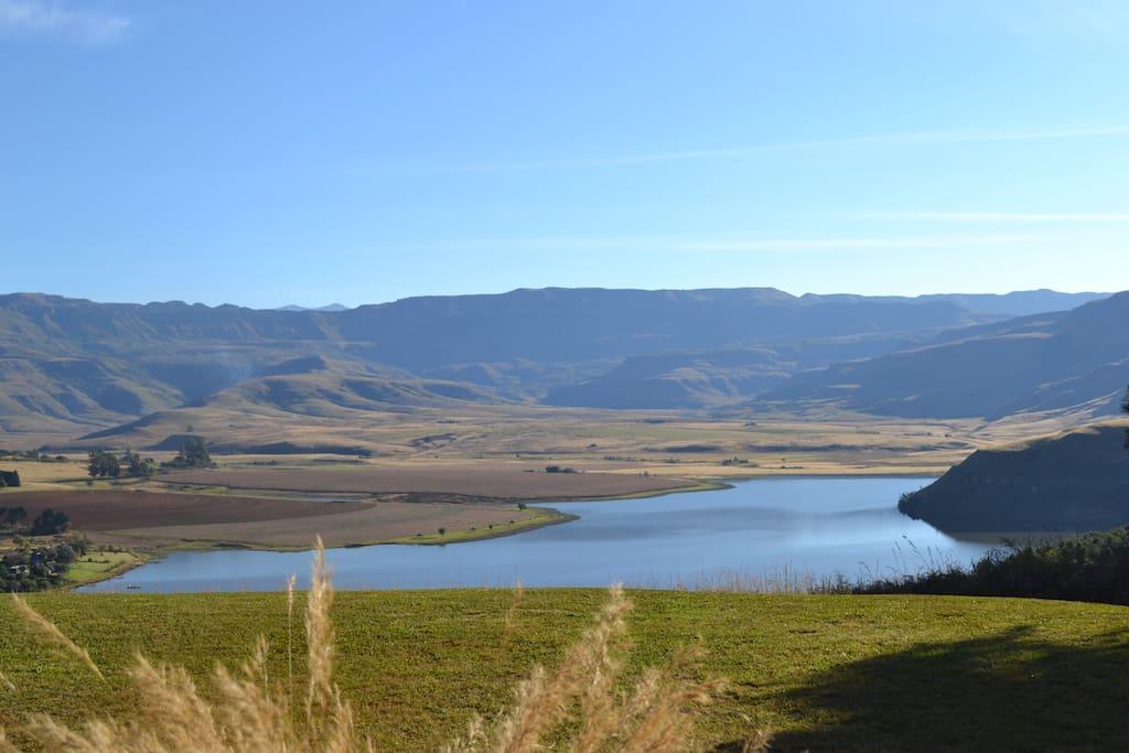 Overlooking Bell Park Dam