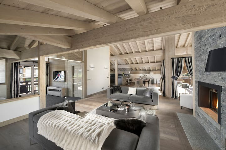 Chalet Grand Tetras, in chaming Village of Le Praz