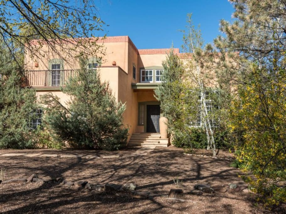 On an extra large lot, in the Historic District of the East Side of Santa Fe.