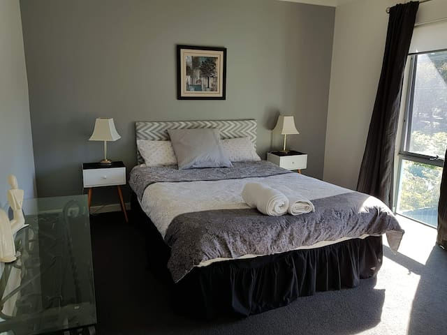 Main bedroom with privacy and built in robes.