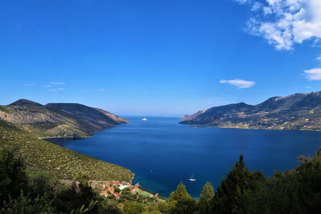 In just 1 hour driving distance from Athens, in the coastal land of Boeotia, you can discover a bleu-green paradise!