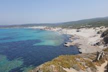 spiaggia di rena majore dall'alto