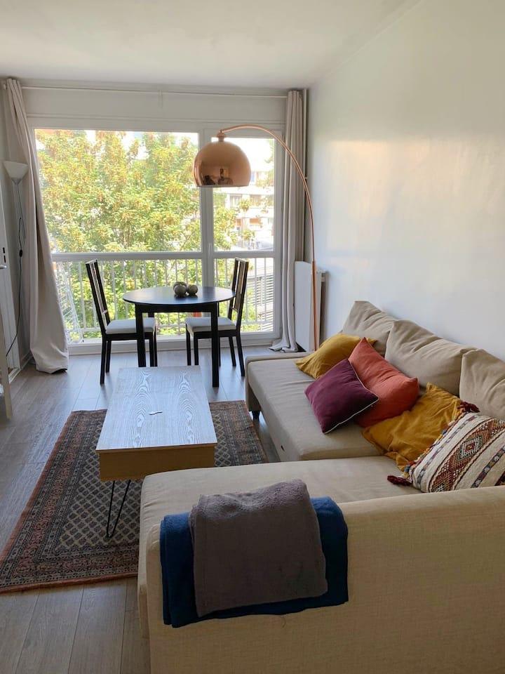 Charmant studio avec balcon à Boulogne-Billancourt
