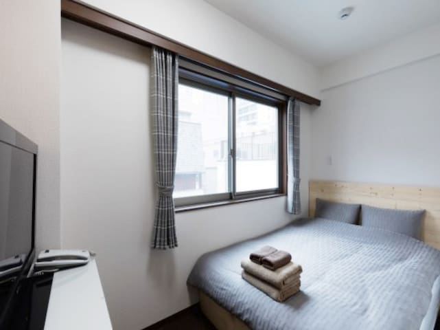 【It's ON HOTEL Dotonbori】 Double bed Private Room④