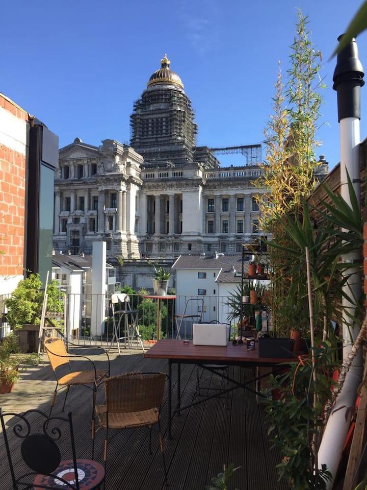 Studio Loft & Private Rooftop Brussels Center