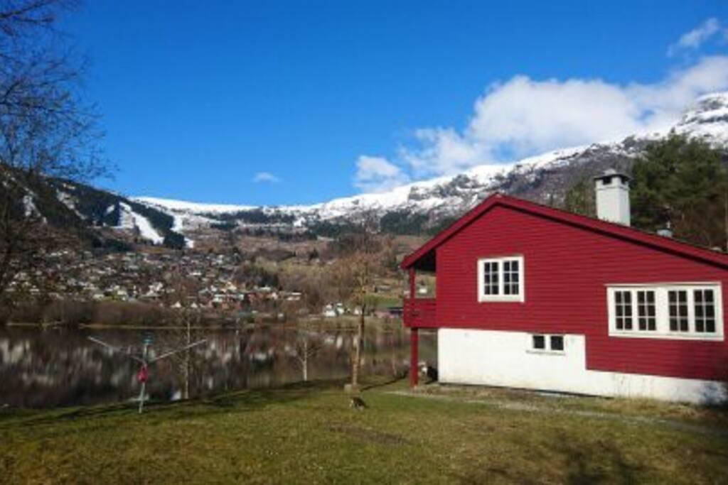 "Wiew to ""Voss Resort"" skicenter."