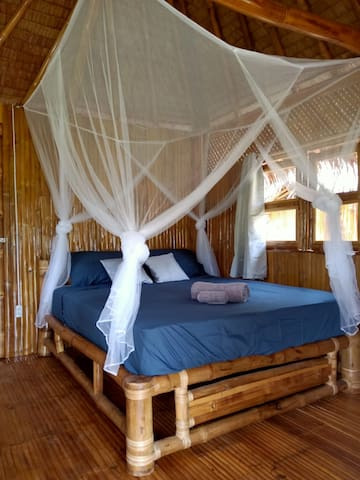 Queen Size Bamboo Beds with Mosquito Net