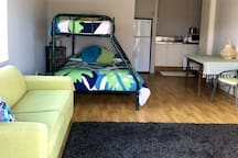 A very comfy bed with additional mattress toppers.