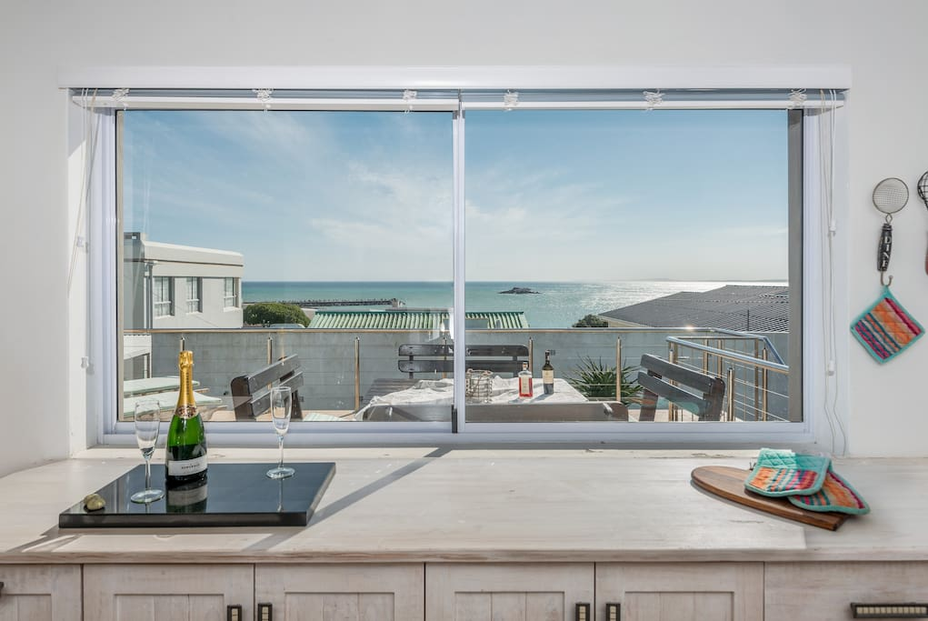 Amazing sea views from Kitchen.