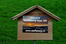 Welcome in Steffisberg. Parking here.