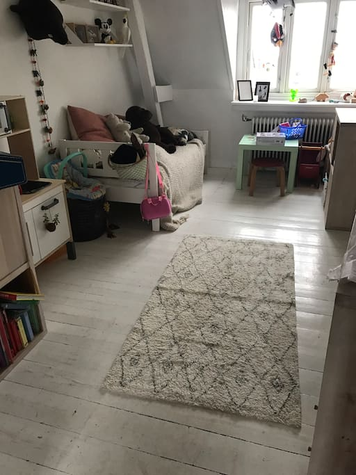 kids bedroom, madras can be put on the floor.