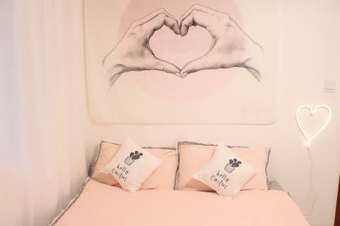 南岳衡山景区 粉色少女心大床房 如梦