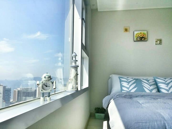 Met3분🚀무료주차🅿최고층🏩 Fantastic&Ocean view🌇Amenity🍒