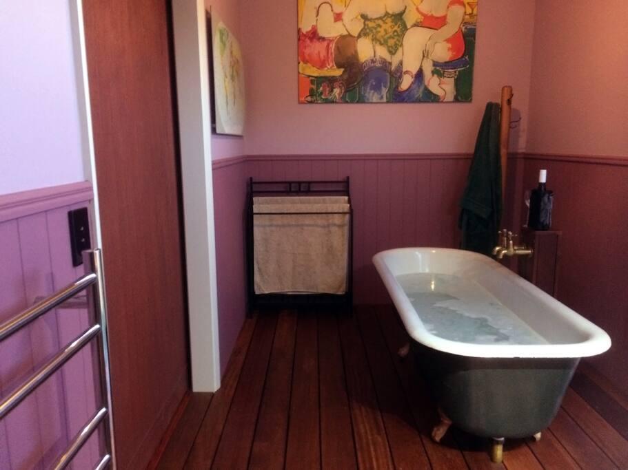 Bath House large clawfoot bath