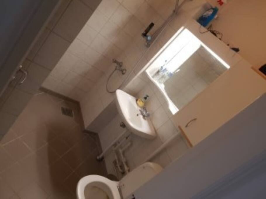 badværelse med bruser