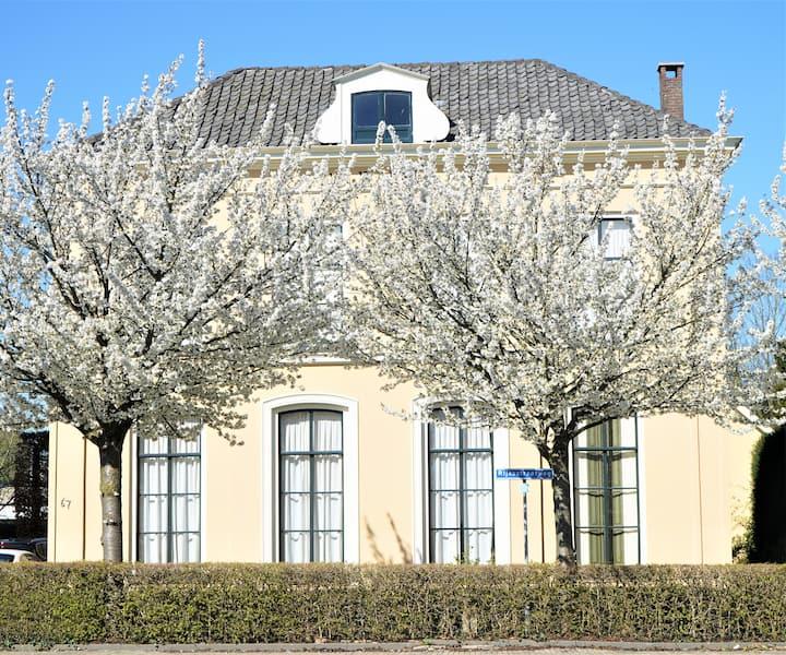 Villa met mooie tuin en zwembad.