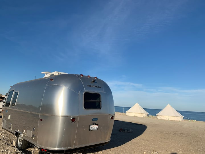 Airstream on the Sea of Cortez