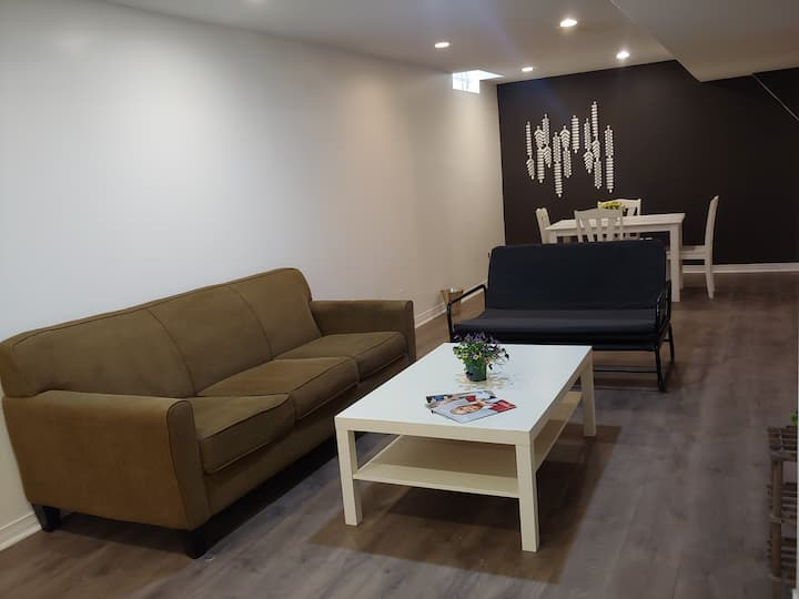 Two-bedrooms basement suitable for quarantine