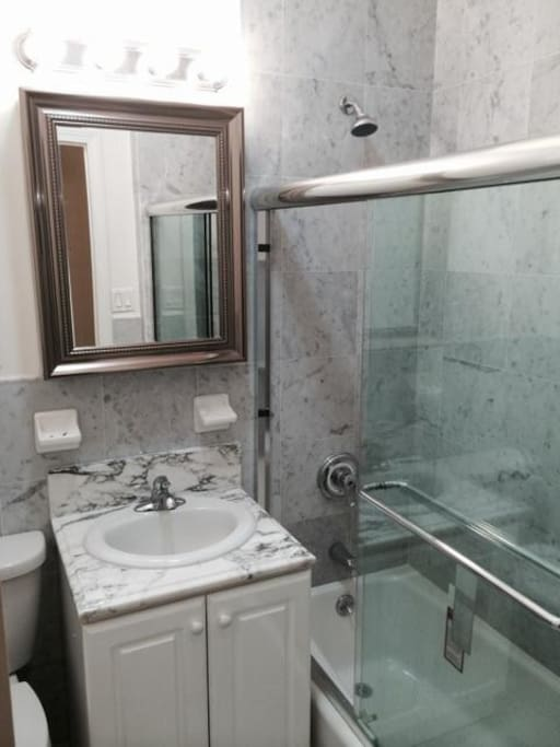 Access to 1 private bathrooom. 2 bathrooms are in the apartment