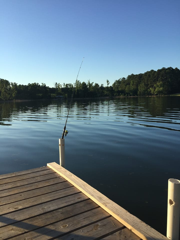 Quiet get away on Lake Thurmond,motorcycling