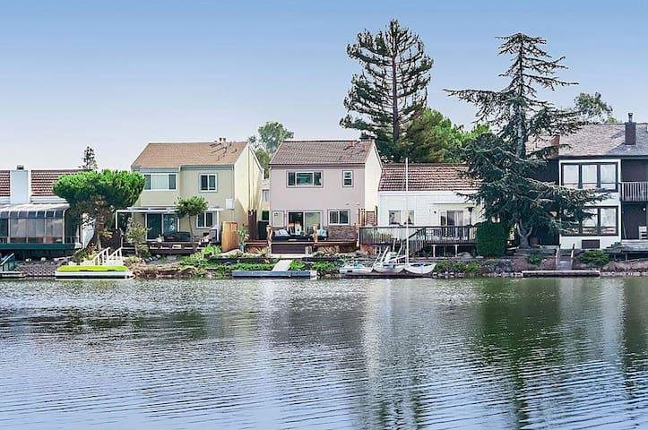 Private room, bath, home faces lagoon. SF bay area