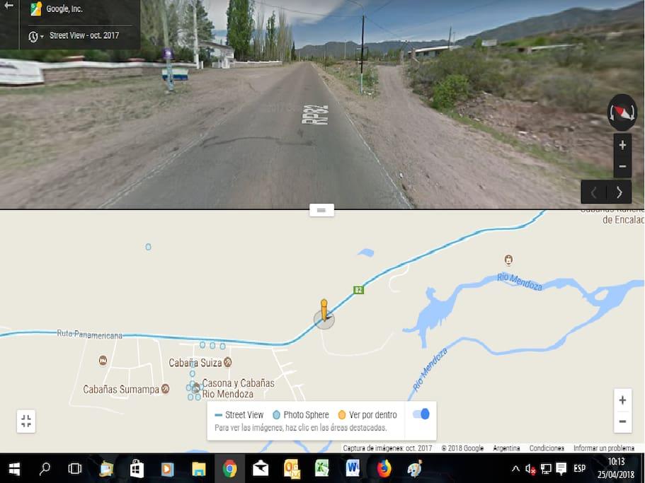 3D VIEW DE LA CABAÑA FRENTE A LA CENTRAL HIDROELECTRICA ALVAREZ CONDARCO