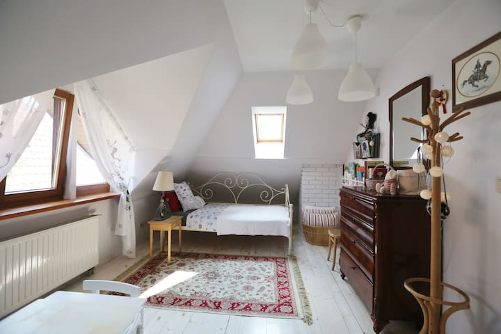 Third bedroom with double bed.