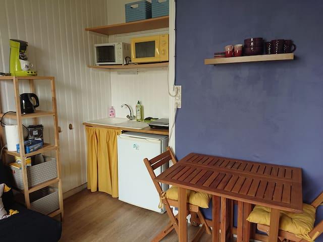 Appartement calme avec espace vert à disposition
