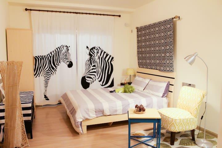 舒适二人小居室,带超大观景阳台 - 惠州市 - Apartmen