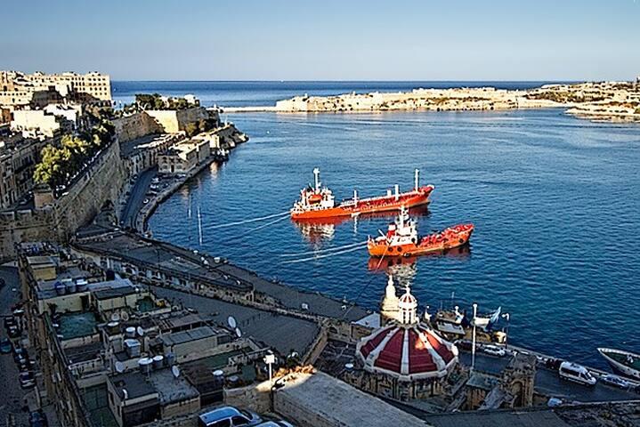 My Neighborhood , View from the Upper Barrakka Gardens, Valletta, Malta