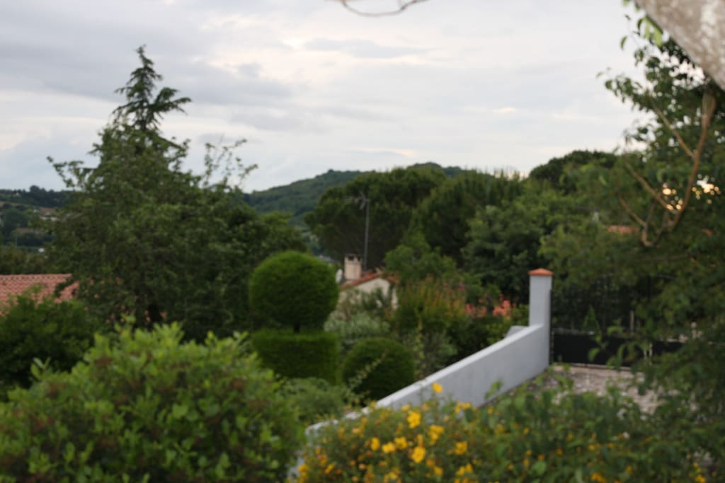 vue de la terrasse cuisine