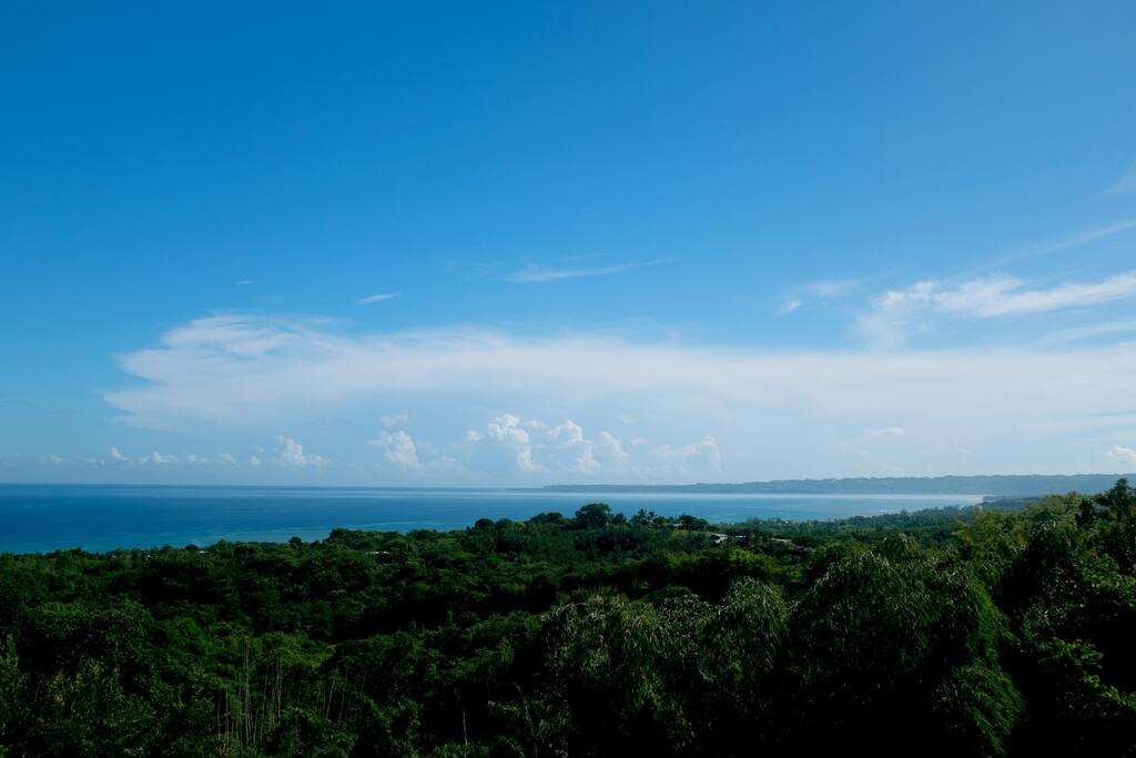 The entire home  is was designed to maximize and revolves around the spectacular Ocean views and this is just one of them. Perfect spot to check all the surf breaks of Rincon, Aguada & Auguadilla.
