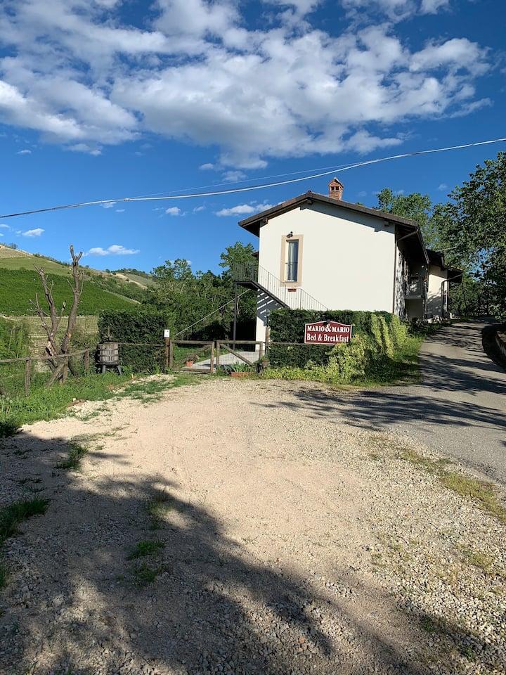 Casa con vista a Trezzo Tinella
