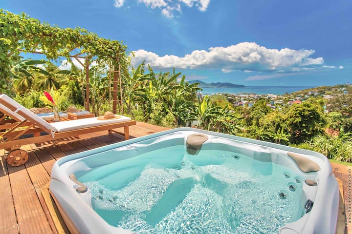 CREOLE BAY PRESTIGE T1 + PRIVATE JACUZZI SEA VIEW