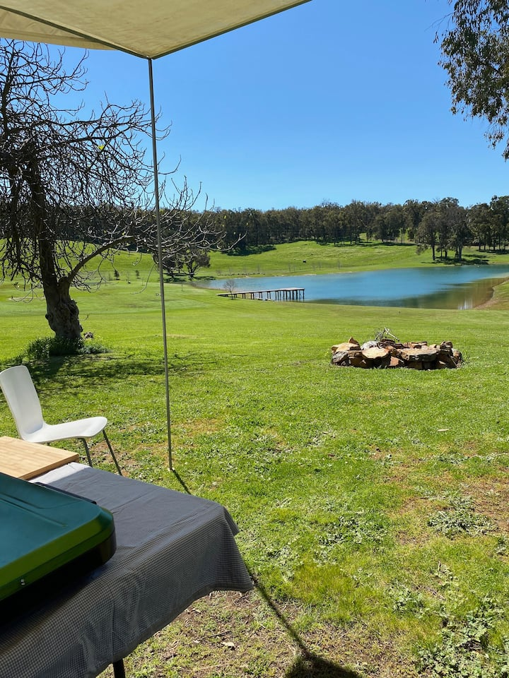 Campsite 1:  @ ORANA By the Lake