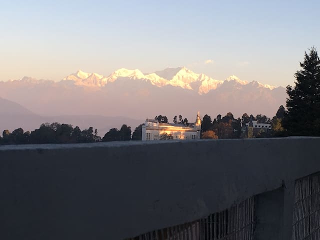 Kanchenjunga View during Sunrise from our Property