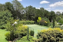 Enjoy a game of tennis while soaking up the highlands