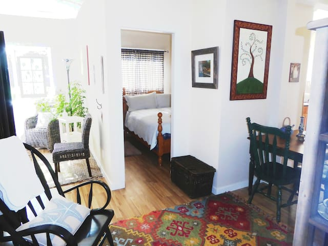 Welcome to Sweet and Serene...a peaceful retreat, or a home away from home !  Spotless,quiet,close to all  of Gibsons '  vibrancy, or  serene walks, bike rides, cafes, etc.    Beautiful bedding, towels, all the comforts of a self contained suite...